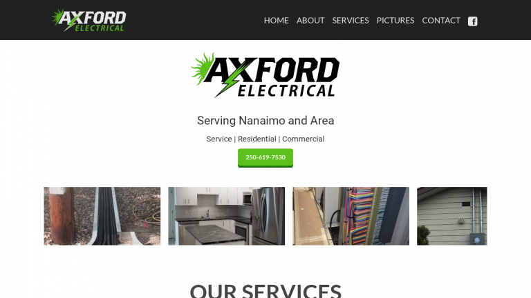 Axford Electrical desktop