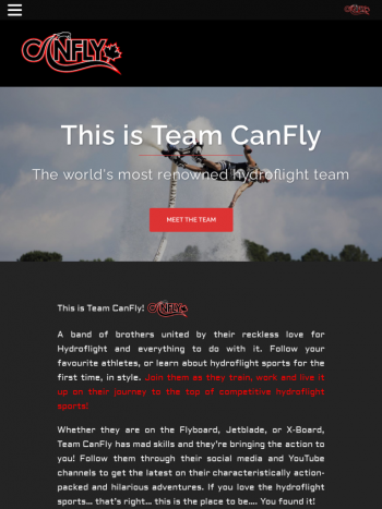 Team CabFly tablet