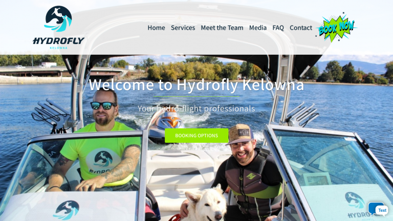 Hydrofly BC desktop
