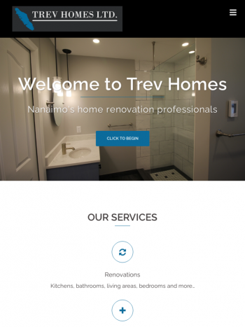 Trev Homes tablet